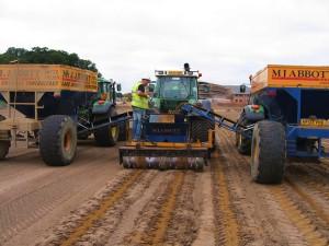 slit drain installation before seeding